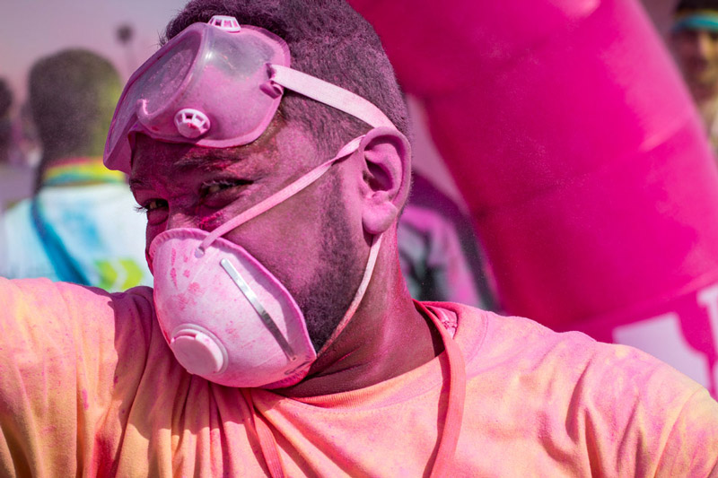 Volunteer at the Color Run in Qatar by Ian Philip Thompson - premium image on Stock by Arias & Thompson